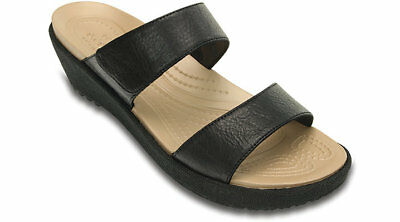 Crocs Womens A-leigh 2-strap Mini Wedge