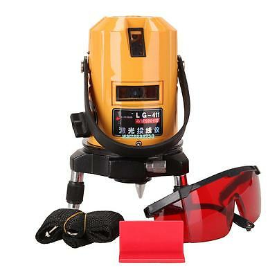 Professional Automatic Self Leveling 5 Line 6 Point Laser Level Measure Red Beam