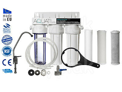 Home 3 St Undersink Ceramic Drinking Water Filter Sytsem Tap  Kit + Accessories