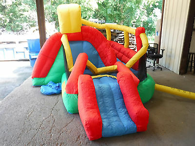 Little Tikes Double Fun Slide 'n Bounce Bouncer - For Parts or Repair Only