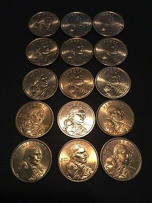 15 2000 (D) Native American Sacagawea  One dollar Liberty coins