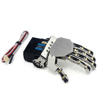 New Humanoid 5 Fingers Manipulator Clamp Left Hand With Servo for Robot DIY