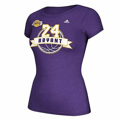Kobe Bryant Los Angeles Lakers Womens Adidas Banner Tee - NWT - MSRP $28