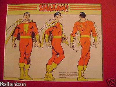 Matted Shazam Shazzam Cel Animation Art Cell