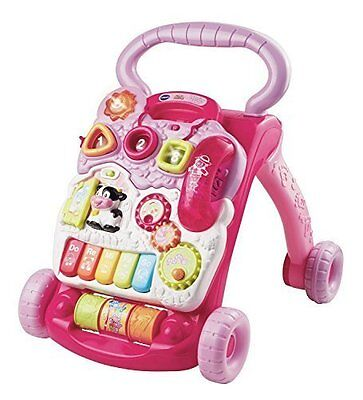 Walker Learning Stand Sit Vtech Pink Baby Push Toys New Toddler Music Gift Girl