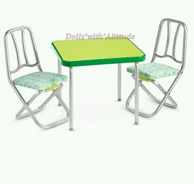 NEW! American Girl Melody's Green Table and Chair Set Banner for Dolls