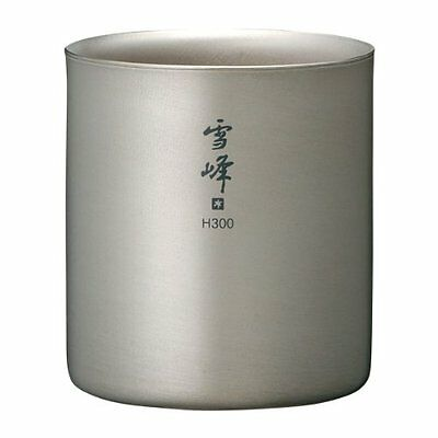 Snow Peak TW-123 H300 Titanium Double Walled Stackable Mug F/S from Japan