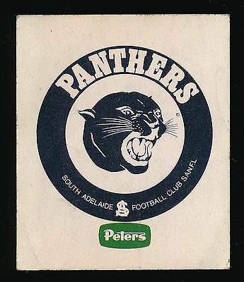 1978 Peters Ice Cream South Adelaide Panthers Sticker r
