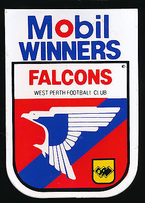 1984 Mobil Winners West Perth Falcons WAFL Petrol sticker r