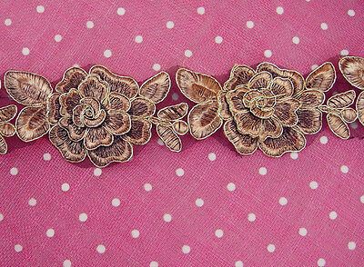 Bridal Lace Trimming Embroidered Trim Ribbon Wedding Floral Sewing Edging 2.3""