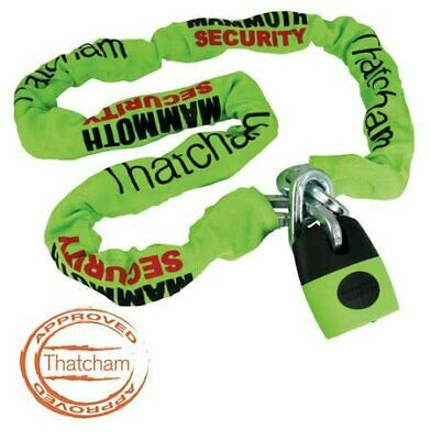 Motorcycle Mammoth Cat3 Security Thatcham Approved 120Cm Chain Lock New