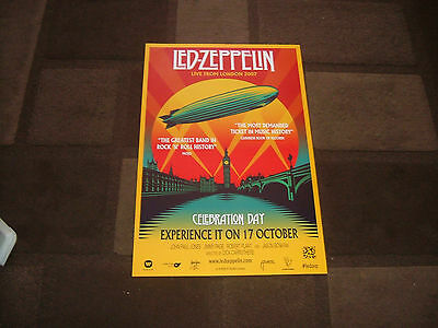 Led Zeppelin.celebration Day.launch Night Promo Poster Mint