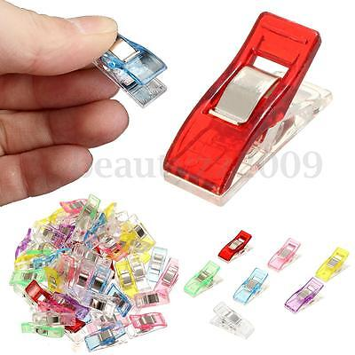 50PCS Sewing Clips Plastic Quilter Holding Wonder Clamps Craft Quilt Binding DIY