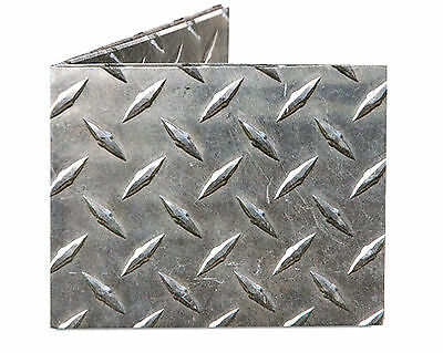 Dynomighty Steel Metal Diamond Plate Mighty Tyvek Paper Billfold Wallet