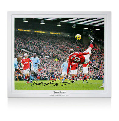 Wayne Rooney signed picture - Overhead Kick Autograph