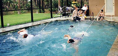 Super Swim Fitness Trainer Swim In Place Tethered To In Deck Base  Pool / 91190