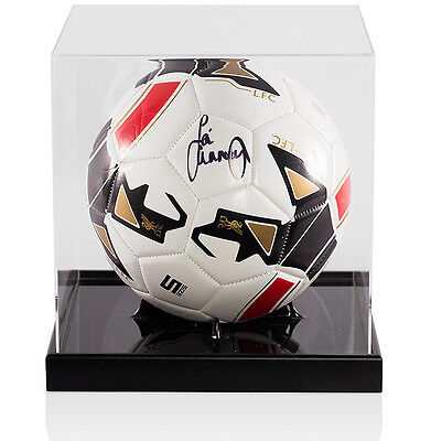 Jamie Carragher Signed Football  Liverpool - In Acrylic Display Case