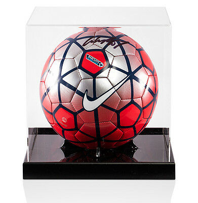 Wayne Rooney Signed Football - Nike Pitch Premier League Football Red & Silver -
