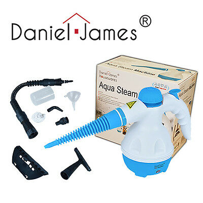 Blue Hand Held Steamer Steam Machine Windows Tiles Grout Oven Cleaning Tool