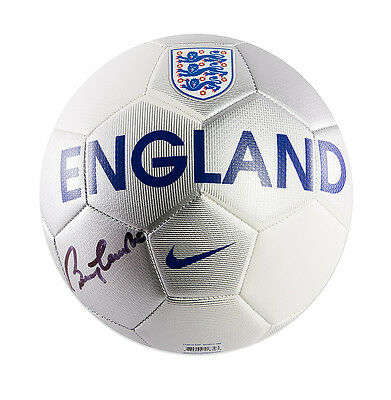 Sir Bobby Charlton Hand Signed Football - England Autograph
