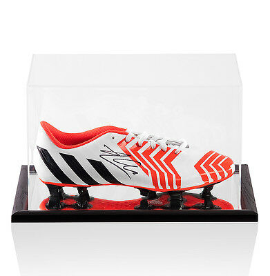 Xabi Alonso Signed White Adidas Predator Boot - In Acrylic Display Case