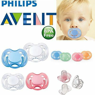 Philips Avent Freeflow Orthodontic Dummy Pacifier Silicone Teat Soother - 2 Pack