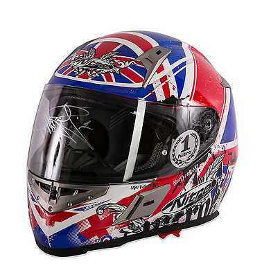 Carl Fogarty Signed Motorcycle Helmet - Clear Visor Autograph