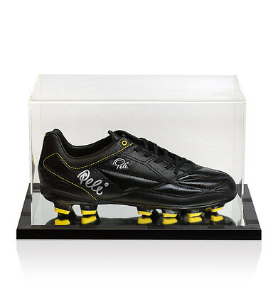 Pele Signed Football Boot - In Acrylic Display Case Autograph Cleat