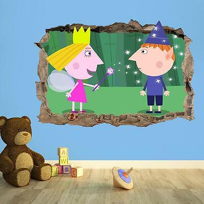 3D Kids Wall Sticker Ben & Holly's Little Kingdom - Kids Bedroom Wall Sticker