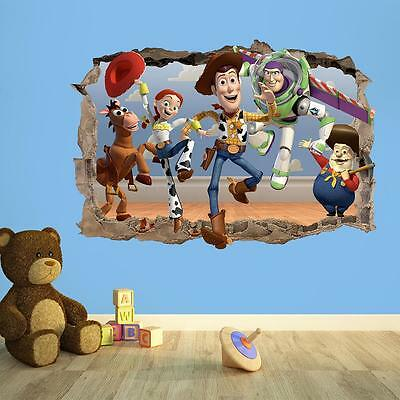 Toy Story 3D Breakout Wall Sticker - Disney Vinyl Wall Sticker