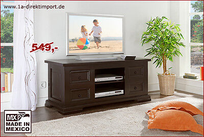 cordoba tv lowboard wandregal kiefer massiv kolonial eur 449 00 picclick de. Black Bedroom Furniture Sets. Home Design Ideas