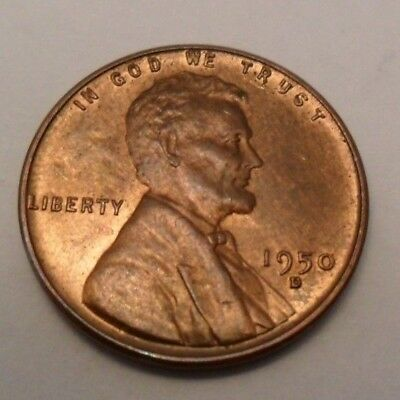 1950 D Lincoln Wheat Cent / Penny Coin  *FINE OR BETTER*  **FREE SHIPPING**