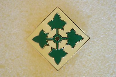 US USA Army 4th Infantry Division Military Hat Lapel Pin