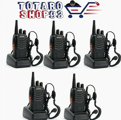 5×BaoFeng BF-888S 400-470MHz Walkie Talkie RICETRASMITTENTE