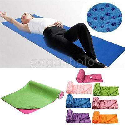 Mode Sport Fitness Voyage Exercice Tapis Yoga Couverture Serviette Antidérapante