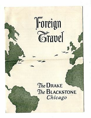 Vintage Travel Brochure Foreign Travel w DRAKE HOTEL Chicago luxury 1920s