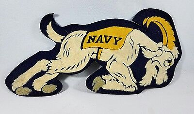 "Vintage Navy Uniform Patch Ram 8 3/4"" x 4 1/2"" ~Rare~ Felt"