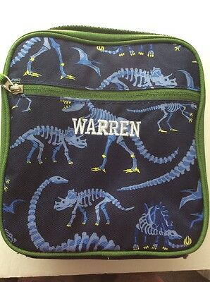 Pottery barn kids WARREN Dinosaur Lunch Bag Box Tote Pottery Barn Kids New