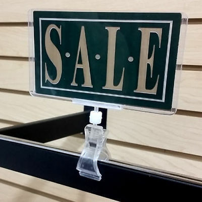 Clip On Sign Clamp POP Rotating Sign Holder - 10 pieces