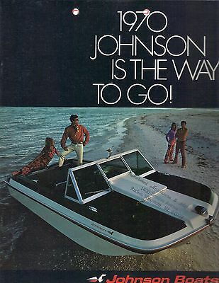 Vintage 1970 Johnson Boats Sales Brochure