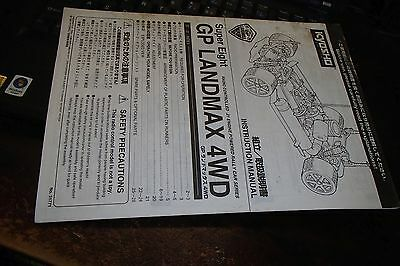 Kyosho Super Eight GP Landmax 4WD Instruction Manual.