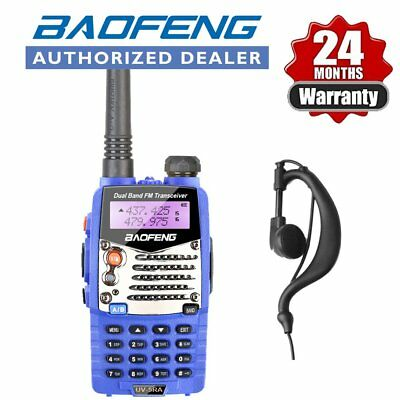 Baofeng UV-5RA UHF VHF FM Two Way Ham Walkie Talkie Radio Blue + Earpiece UK