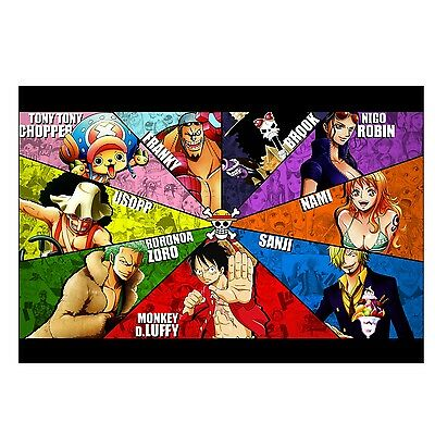 Poster affiche Manga One Piece Equipage Swag 91 x161 cm