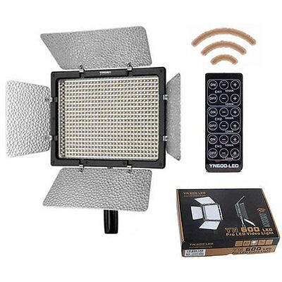 Yongnuo YN-600 Pro LED Video Light for Canon Nikon Camcorder w/ Remote UK