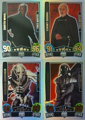 Star Wars FORCE ATTAX Movies 3 RAINBOW FORCE MASTER Card Singles 2013 topps