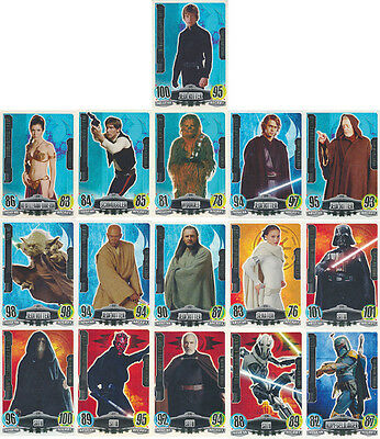 Star Wars FORCE ATTAX Movies 1 RAINBOW FORCE MASTER Card Singles 2012 topps