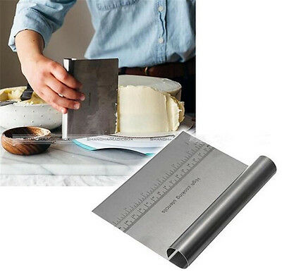 Stainless Steel Smoother Edge Cake Scraper Kitchen Flour Pastry Cake Tool
