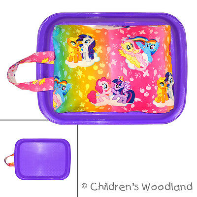 Childrens Lap Desk for Car Rides - My Little Pony Tray - Traveling Girls Art