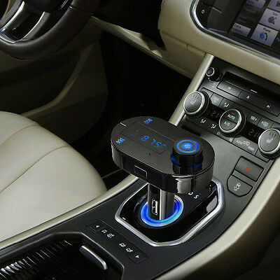 Wireless Bluetooth Car Kit FM Transmitter MP3 Player USB SD LCD Charger Remote