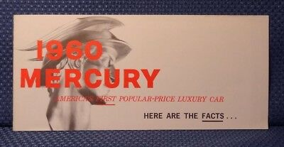 1960 Mercury Automobile FACTS Booket - Orignal New Old Stock
